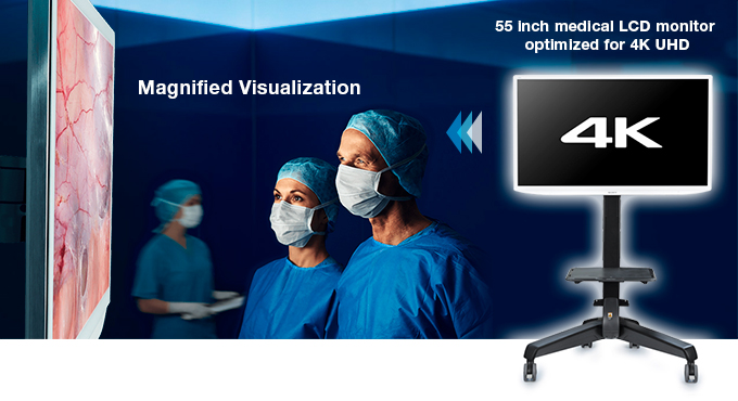 Magnified Visualization - 55 inch medical LCD monitor optimized for 4K UHD